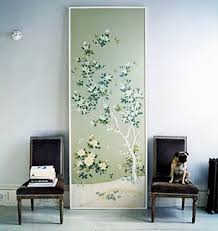 domino magazine framed wallpaper this large panel of chinoiserie