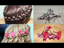 How To Make Flower Hair Clips - easy diy flower and beads hair accessories and giveaway winners