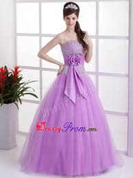 made flower lavender beaded tulle prom holiday dresses