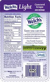 welch s light grape juice nutrition facts welch s light concord grape juice beverage sparkpeople