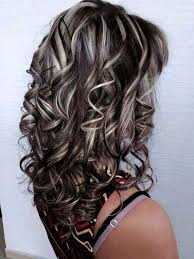 chocolate hair with platinum highlight pictures mechitas cabello pinterest hair coloring hair style and