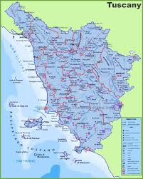 Map Of Italy by Large Detailed Travel Map Of Tuscany With Cities And Towns Italy