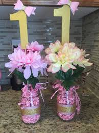 Centerpieces For Minnie Mouse Party by Minnie Mouse Pink And Gold Birthday Centerpieces Sofies 1st