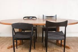vintage retro danish teak dining table and 4 mixed danish chairs
