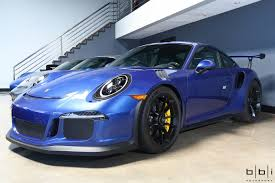 porsche blue gt3 wheels wednesday cobalt blue 991 gt3 rs with satin black bbs fi r