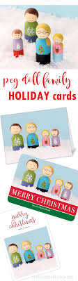 make your own peg doll family cards unique cards