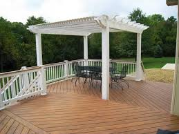 White Vinyl Pergola by Pergolas U2013 Columbus Decks Porches And Patios By Archadeck Of Columbus