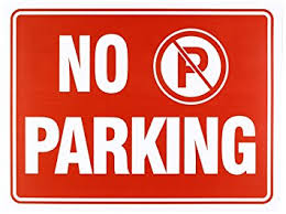 Signage For Comfort Rooms Amazon Com No Parking Sign 9 X 12 Inch 4 Pack Office Products