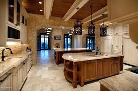 rustic glass pendant lights rustic kitchen with french doors