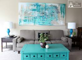 Creative Living Room Calming Living Room Wall Art Canvas With Blue Paints And Blue