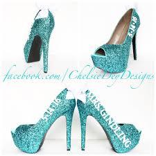 glitter peep toe pumps robins egg wedding open toe high heels