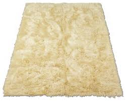 Mongolian Faux Fur Rug Classic Sheepskin Ivory Rectangle Faux Fur Rug Area Rugs By Ecofo