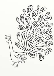 sumptuous peacock coloring page in exquisite line coloring