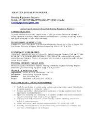 equipment engineer sample resume haadyaooverbayresort com