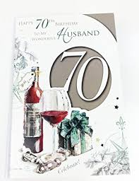 husband 70th birthday card large greeting card for age 70 amazon