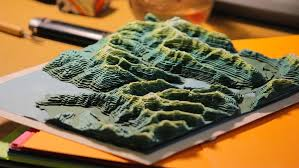 paper maps samaps topographical 3d maps in coloured paper by sam caldwell
