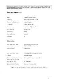 Resume Empty Format Cover Letter Blank Resume Format Blank Resume Format Download