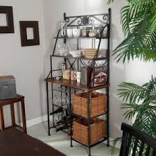 bakers rack with wine storage hayneedle