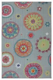 playful kids medallion gray floral mohawk rug 11943 modern