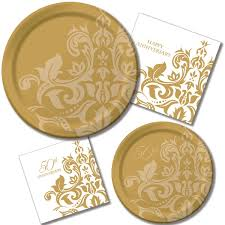 wedding party plates 50th wedding party supplies wedding gallery