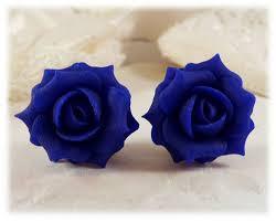blue earrings cobalt blue stud earrings blue clip on earrings