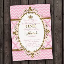 pink gold princess invitations pink gold royal invitation