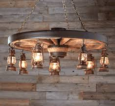 Star Chandeliers Large Wagon Wheel Chandelier With Rustic Lanterns
