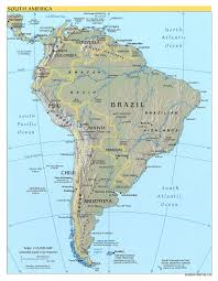 Map Of Southern Spain Detailed Political And Relief Map Of South America South America