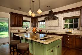 Kitchen Designs With Windows by Vintage Kitchen Ideas With Silver Cabinet And Rattan Curtain For