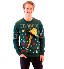 ugly christmas sweater with lights a christmas story fragile leg l light up green ugly