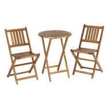 Wooden Bistro Chairs Patio Chairs Outside Lawn Furniture Wooden Garden Table And