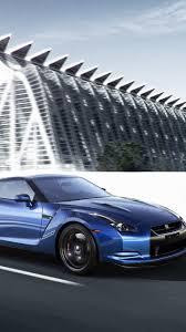 Nissan Gtr Blue - download wallpaper 1440x2560 nissan gt r blue side view speed