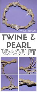 pearls bracelet diy images How to make a twine and pearl bracelet the crafty blog stalker jpg