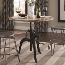 coaster galway adjustable height dining table with crank dunk