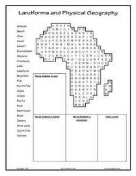 printable landform worksheets esl english vocabulary printable