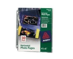 4x6 photo pages for 3 ring binder staples 4 x 6 horizontal photo pages 10 pack 15936 cc staples