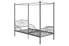 amazon com dhp canopy metal bed frame twin size silver kitchen