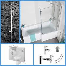 L Shaped Bathroom Design L Shaped Bathroom Suite 1700 Bath 550 Vanity Unit Btw Toilet Wc