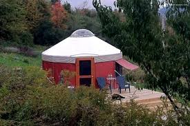 modern countryside yurt in waterville upstate new york