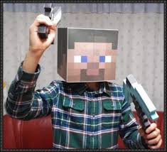 minecraft papercraft life size the player head free template
