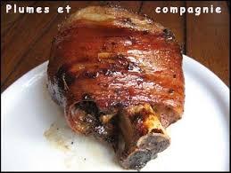cuisine jarret de porc jarret de porc caramélisé au four plumes et compagnie porc