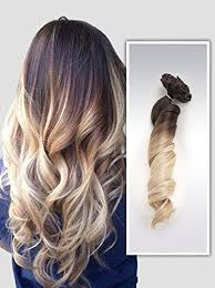 ombre extensions 22 clip in hair extensions ombre wavy curly dip dye 6