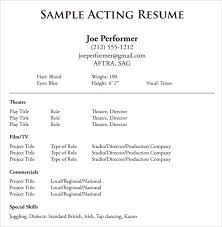 theatrical resume format actor resume template beautiful document templates acting resume