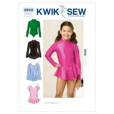 dress pattern brands amazon com kwik sew k3508 leotards sewing pattern size 8 10 12 14