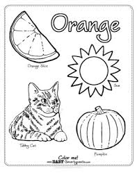 color orange coloring free coloring pages