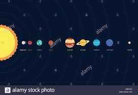 solar system planet flat design vector illustration stock vector