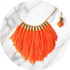 tassel necklace images Tassel necklace fabulous fringe orange neon unique art jpg