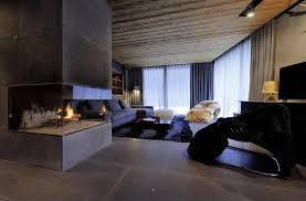 modern apartment ideas preserving character of alpine chalet in