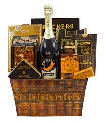 cheese and wine gift baskets rustic sunset prosecco gift basket by pompei baskets