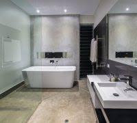 Concrete Floor Bathroom - concrete floor bathroom garage transitional with beverage